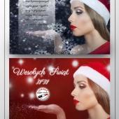 Kartka świąteczna projekt wydruk ulotka