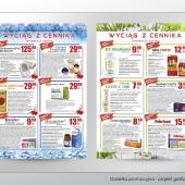 Gazetka promocyjna - projekt graficzny, wydruk